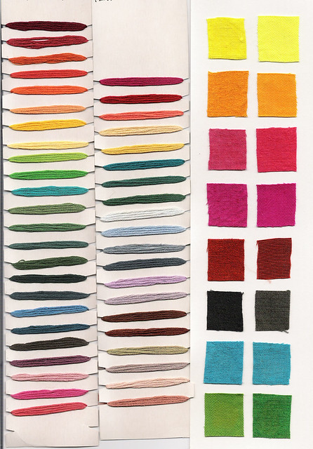 COLOR CHART FOR EMBROIDERY FLOSS
