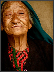Beautiful old lady from Darap(Sikkim) village photo by Sukanto Debnath