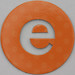 coloured card disc letter e