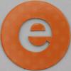 coloured card disc letter e