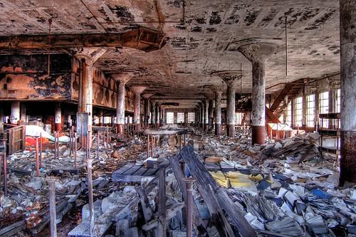 Depósito de livros escolares em Detroit