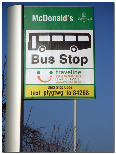 New bus stop flags