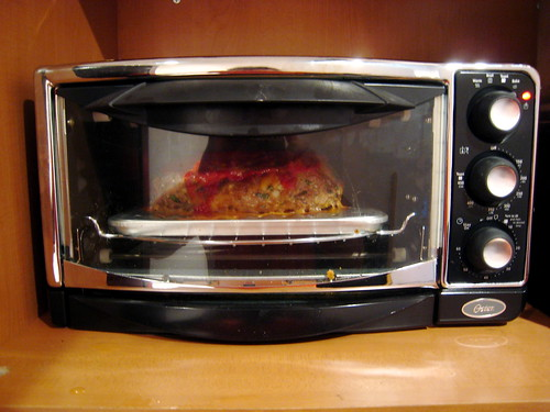 Meatloaf 2 Cooking In The Toaster Oven By Slice