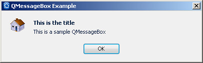 Dual Line QMessageBox