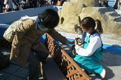 We can touch humboldt penguins