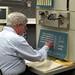 """Steve """"Slug"""" Russell manipulating PDP-1"""