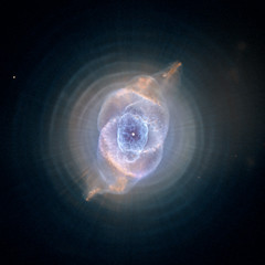 NASA's Hubble Space Telescope imagery: The Cat's Eye Nebula, one of the first planetary nebulae discovered, also has one of the most complex forms known to this kind of nebula. Eleven rings, or shells, of gas make up the Cat's Eye. photo by Flickr