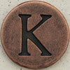 Copper Uppercase Letter K