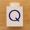 Vintage LEGO Letter Q