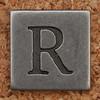 Pewter Uppercase Letter R