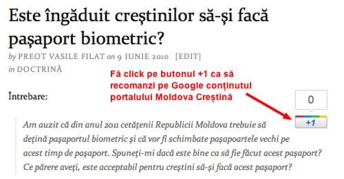 Recomandă Moldova Creștină pe Google