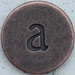 Copper Lowercase Letter a