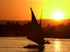 FELUCCA RIDE IN LUXOR, EGYPT photo by Butch Osborne