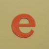 card letter e