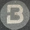 B on doormat