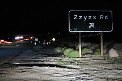 Zzyzx Road along the I-15 in California photo by slworking2