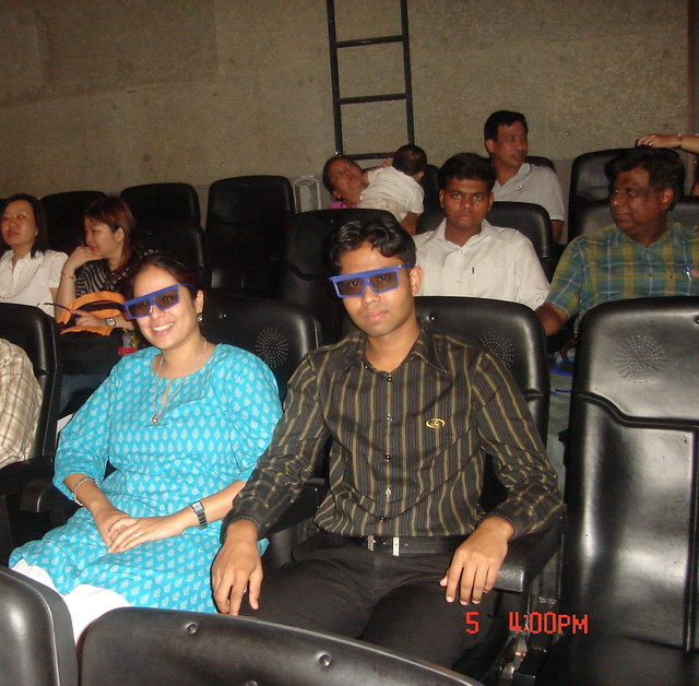 me with Karan watching 4D movie in Singapore | Flickr - Photo Sharing!