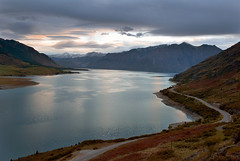 Dawn on Lake Hawea photo by flayer
