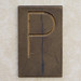 Brass Letter P