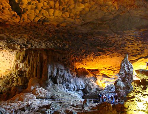 Cave interior column