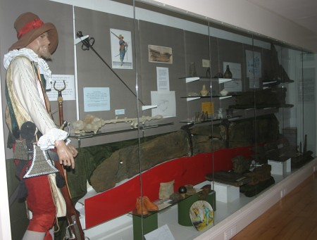 Display cabinet in Alderney Museum