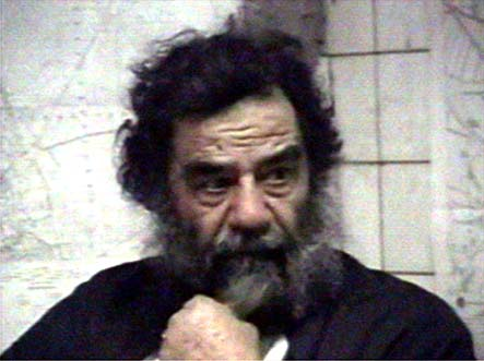 Saddam Hussein with beard