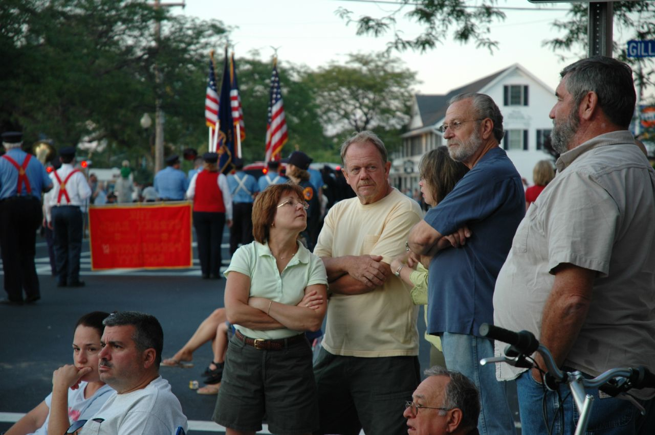 Parade watchers