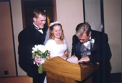 Our Wedding: Dad Signing the Marriage Certificate