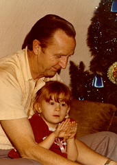 My Grandfather and me at Christmas