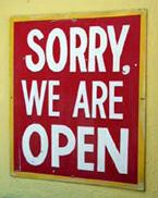 sorry we are open