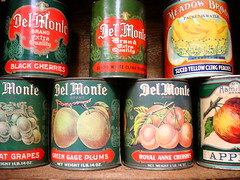 part of Andy's collection of vintage fruit labels