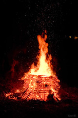 Bonfire for speeding the spirits of the dead