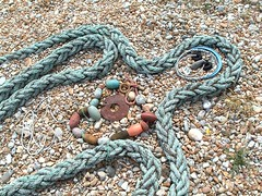Rope figure, in Dungeness garden of Brian Yale