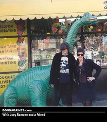 Donna at a Joey Ramone memorial