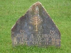 John L.A. Brown 9.12.1800 - 10.19.1818, Black Oak Cemetery, Dekalb County AL