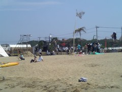 beach stageにて