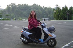 This is me on my moped!