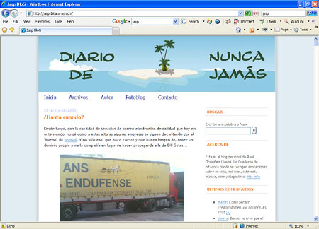 Jas BloG en IE7