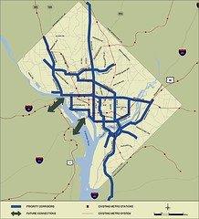 Proposed Street Car lines, Washington, DC