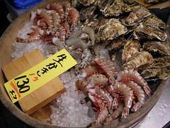 Shrimp and Oysters Nishiki Market