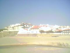 Casas vistas da praia