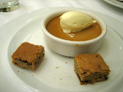 Butterscotch Pudding with Chocolate Chip Blondies