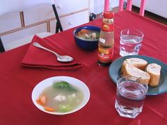 Udon de verduras y pescaco