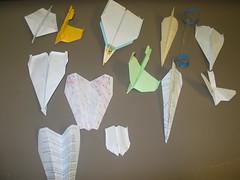 """å¸ç""""Ÿå€'的紙飛機作品"""