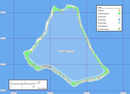 Atoll Tematangi - Map