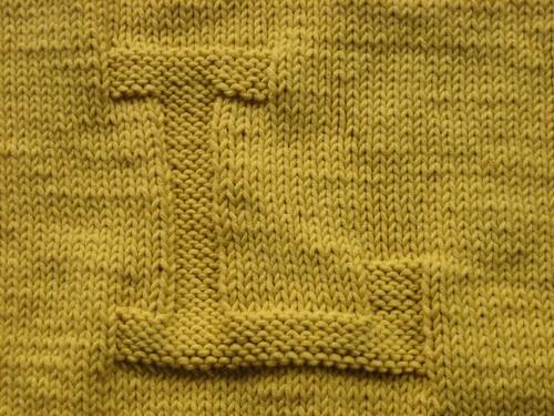 Laura's blanket, initial L