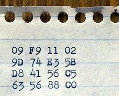 09 F9 11 02 9D 74 E3 5B D8 41 56 C5 63 56 88 C0