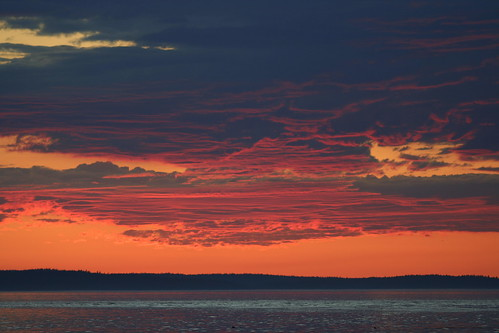 sunset cloud over Lopez Island