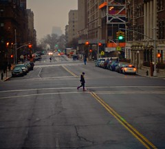 Alone in Manhattan @ New York photo by redeyesatdawn