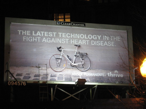 Bicycle commuter billboard